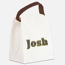 Josh Gold Diamond Bling Canvas Lunch Bag