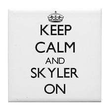 Keep Calm and Skyler ON Tile Coaster