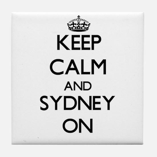Keep Calm and Sydney ON Tile Coaster