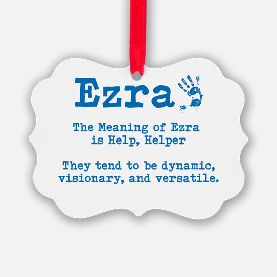 The Meaning of Ezra Ornament