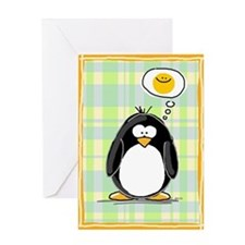 Thinking of You Penguin Greeting Card
