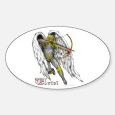 Archangel Uriel Oval Decal