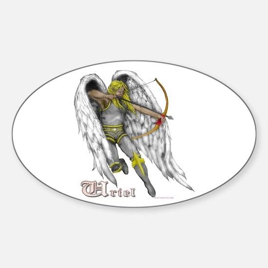 Archangel Uriel Oval Decal