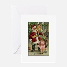 A Merry Christmas - Victorian Santa Claus with Chi