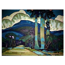 Manookian - Hawaiian Landscape Poster