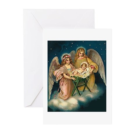 Christmas - Heavenly Victorian Angels and Baby Jes