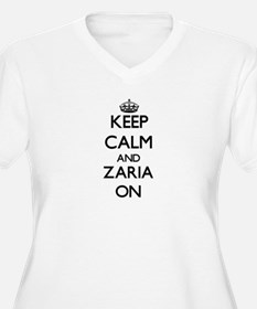 Keep Calm and Zaria ON Plus Size T-Shirt