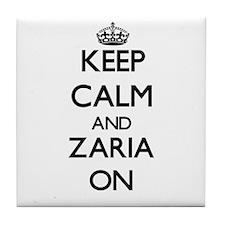 Keep Calm and Zaria ON Tile Coaster