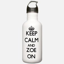 Keep Calm and Zoe ON Water Bottle
