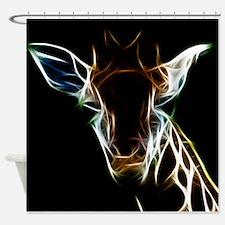Abstract Giraffe Shower Curtain