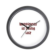happiness is being Luz Wall Clock