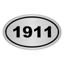 1911 Steel Grey Oval Vinyl Decal
