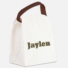 Jaylen Gold Diamond Bling Canvas Lunch Bag