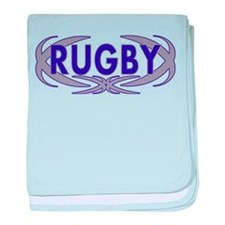 Rugby baby blanket
