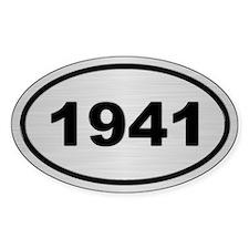 1941 Steel Grey Oval Vinyl Decal