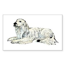 Great Pyrenees Rectangle Decal