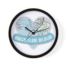 I Love Harsen's Island Wall Clock