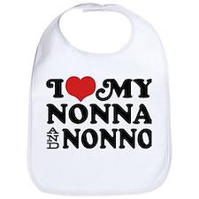 I Love My Nonna and Nonno Bib