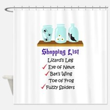 Shpping List Shower Curtain