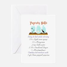 POPCORN BALL RECIPE Greeting Cards