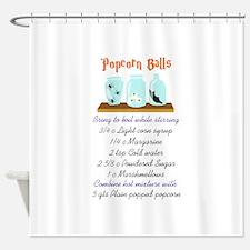 POPCORN BALL RECIPE Shower Curtain