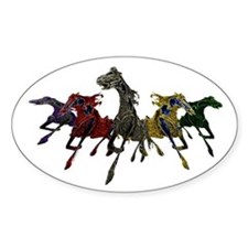 Wild Horses Oval Decal