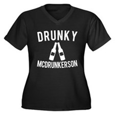 Drunky McDrunkerson Funny St Pat Plus Size T-Shirt