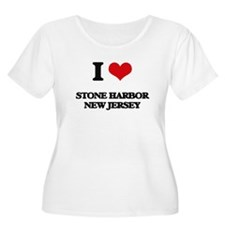 I love Stone Harbor New Jersey Plus Size T-Shirt