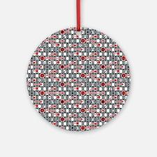 Unique Funky cc arrow symbol patterns Round Ornament