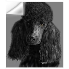 standard poodle black Wall Decal