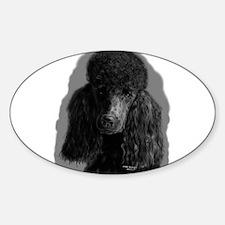 black standard poodle Decal