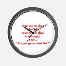 Are you going to drink that? Wall Clock