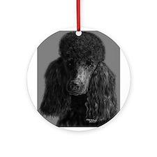 standard poodle black Ornament (Round)