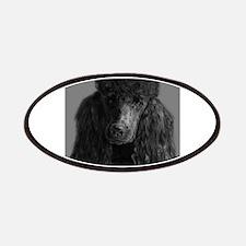 standard poodle black Patch