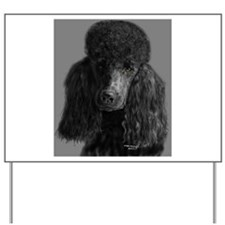 standard poodle black Yard Sign