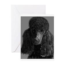 standard poodle black Greeting Cards