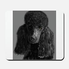 standard poodle black Mousepad