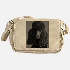 standard poodle black Messenger Bag