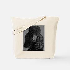 standard poodle black Tote Bag