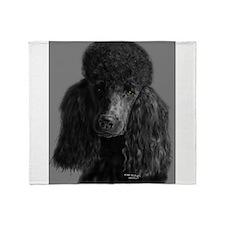 standard poodle black Throw Blanket
