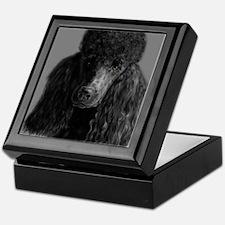 standard poodle black Keepsake Box