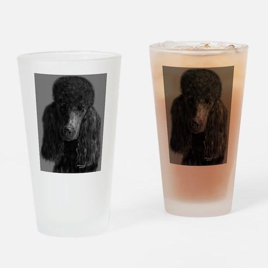 standard poodle black Drinking Glass