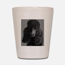standard poodle black Shot Glass