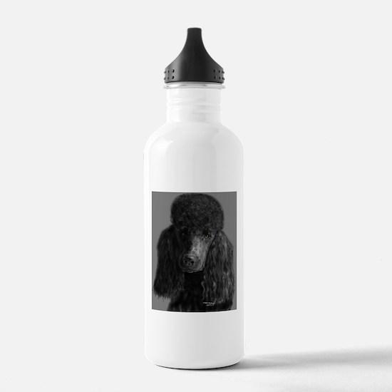 standard poodle black Water Bottle
