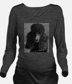 standard poodle black Long Sleeve Maternity T-Shir