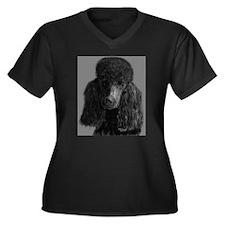 standard poodle black Plus Size T-Shirt