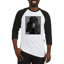 standard poodle black Baseball Jersey