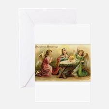 Victorian Christmas - Angels with Baby Jesus Greet
