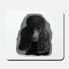 black standard poodle Mousepad