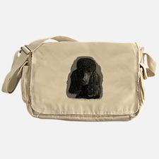 black standard poodle Messenger Bag